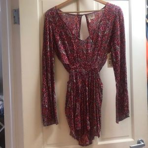 Billabong side cut-out floral romper- Size Small